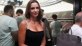 Opalona Sara Boruc na Stadionie Narodowym