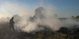 69-latek zginął podczas wypalania traw