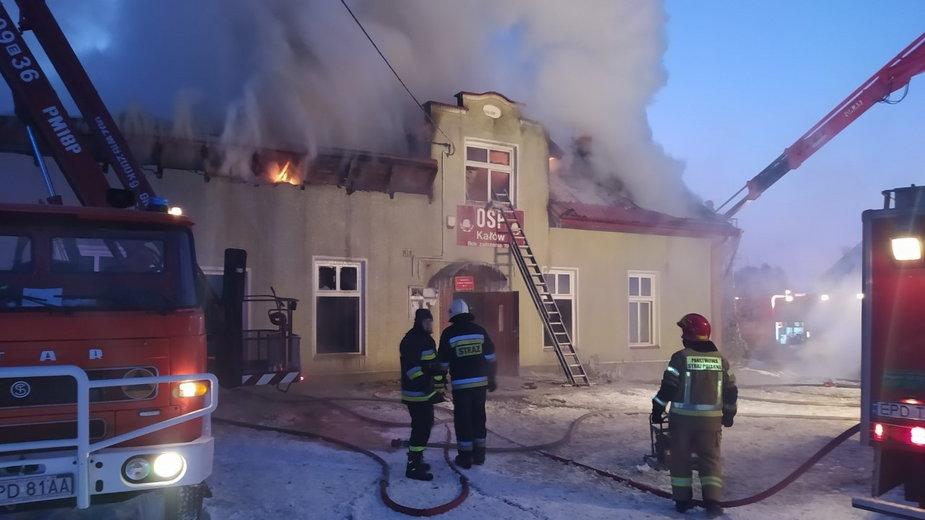 Pożar strażnicy w Kałowie