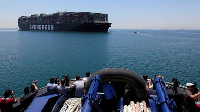 Ever Given finally sets sail from Suez Canal
