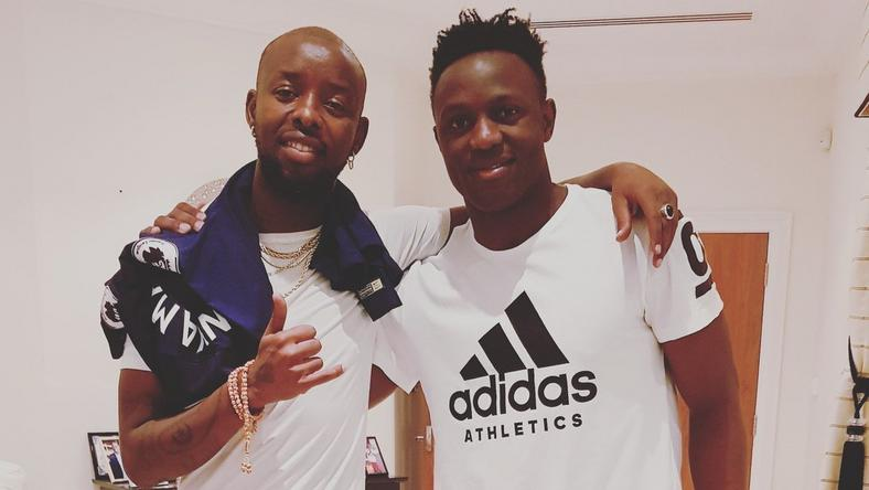 Eddy Kenzo at Victor Wanyama's home in London early this year