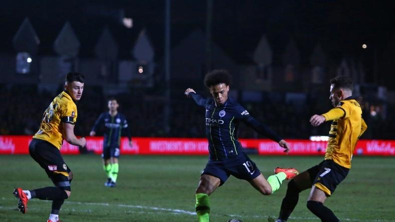 Leroy Sane inspired Manchester City's FA Cup win at Newport County
