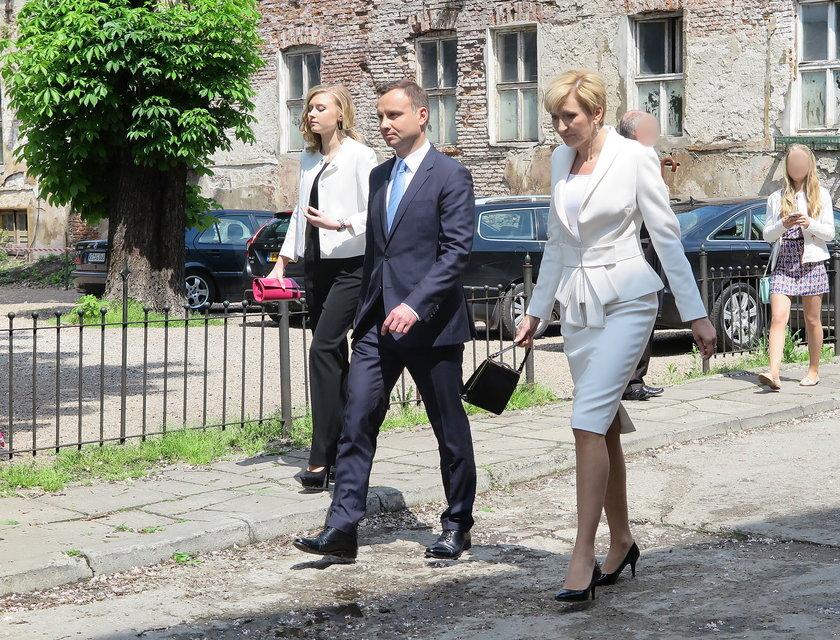 Prezydent Andrzej Duda, jego żona Agata i córka Kinga