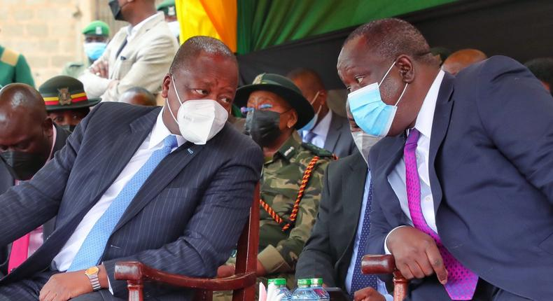 Interior CS Fred Matiang'i and Health CS Mutahi Kagwe launched a 5-day mass Covid-19  vaccination for inmates and staff