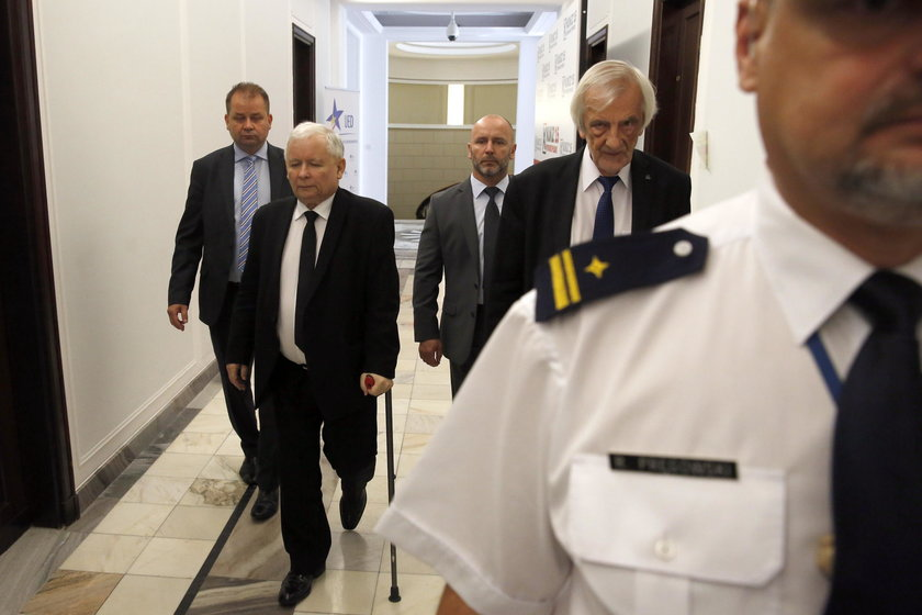 Kaczyński wrócił do Sejmu!