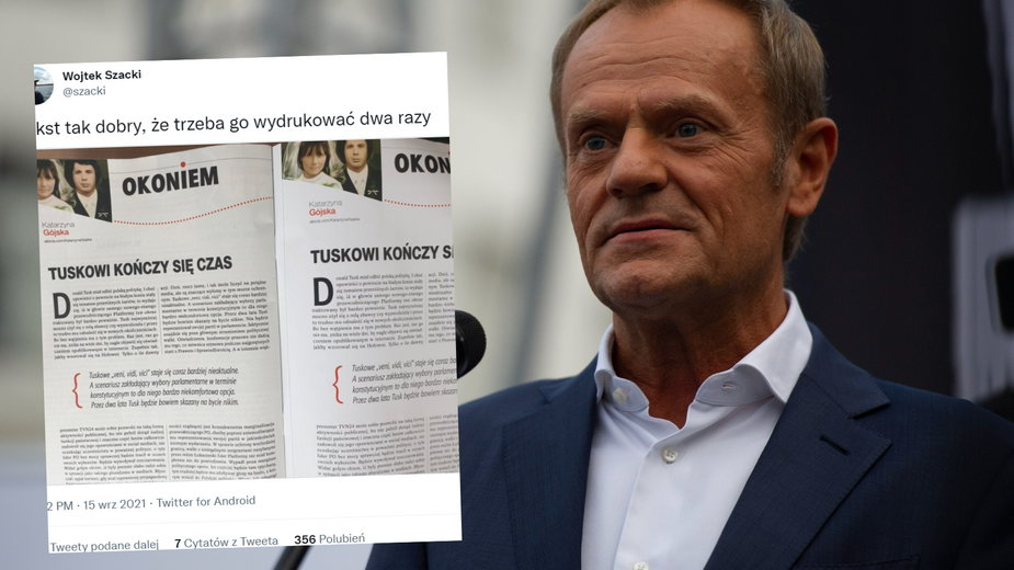 """""""Gazeta Polska"""" dwa razy wydrukowała ten sam tekst o Donaldzie Tusku"""