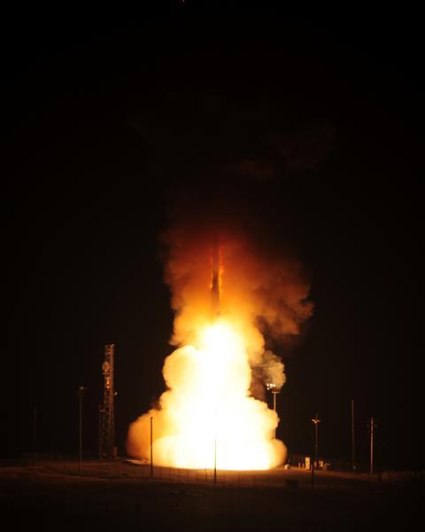Start pocisku ICMB Minuteman III