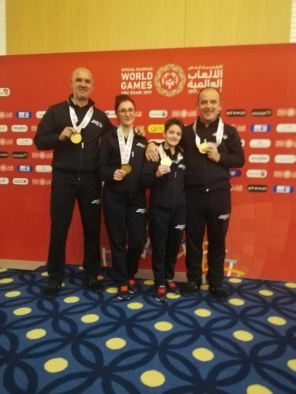 Ekipa Specijalne Olimpijade Srbije koja je osvojila zlato na Svetskim igrama u