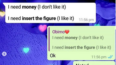 Man shows his girlfriend how to ask for money- do you agree with him?