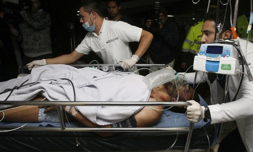 Ruschel w drodze do szpitala