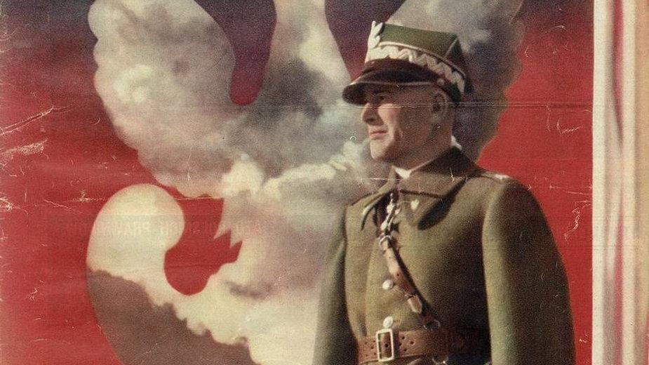 Plakat propagandowy z wizerunkiem marszałka Śmigłego-Rydza