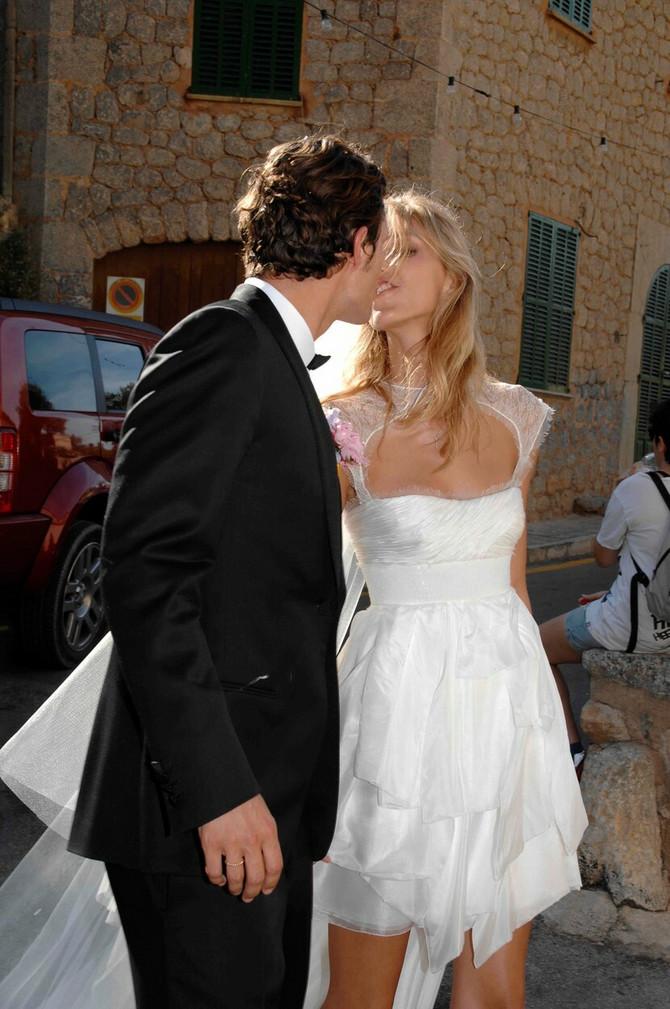 Anja Rubik i Saša Knežević na venčanju 2011. na Majorci