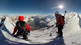 Piękne zdjęcia Stephana Siegrista i Davida Fassela z Matterhornu - zdobywają szczyt w 150 lat od pierwszego wejścia