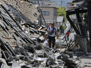 Strong earthquakes hit southwestern Japan