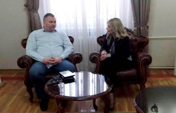 Producent Oliver Paunovć i gradska većnica za kulturu Jelena Mitrovski