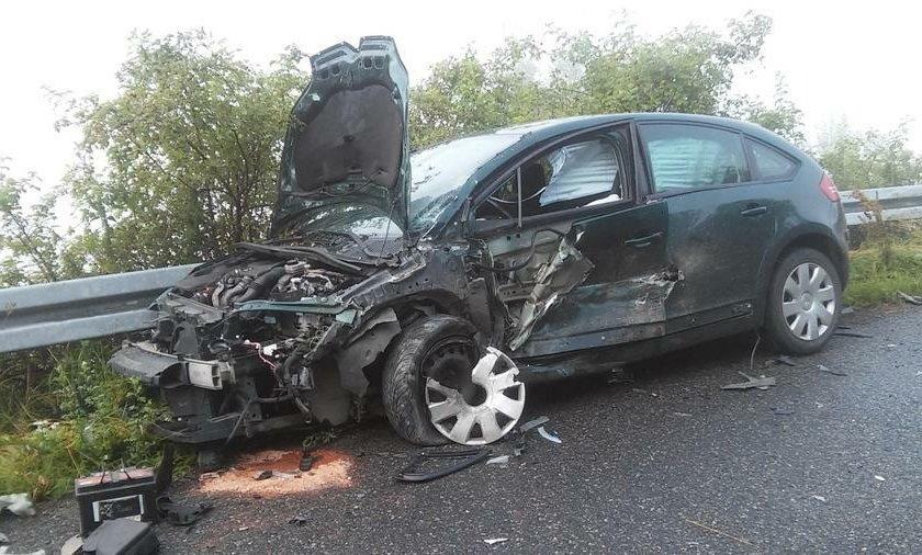 Wypadek wyglądał bardzo groźnie