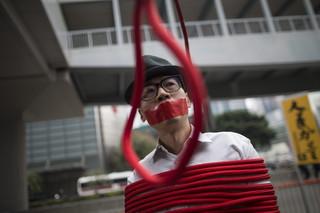 Demonstracje w Hongkongu po porwaniu przez chińskie wladze pięciu księgarzy