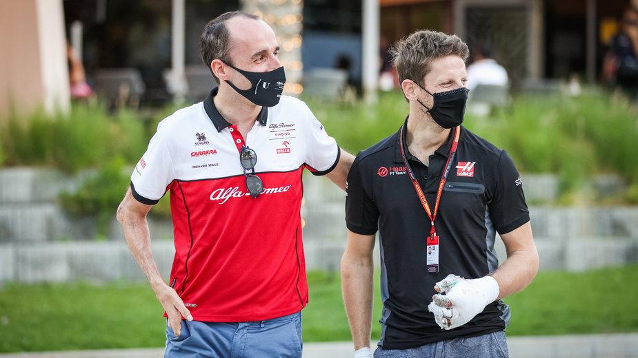 Robert Kubica i Romain Grosjean