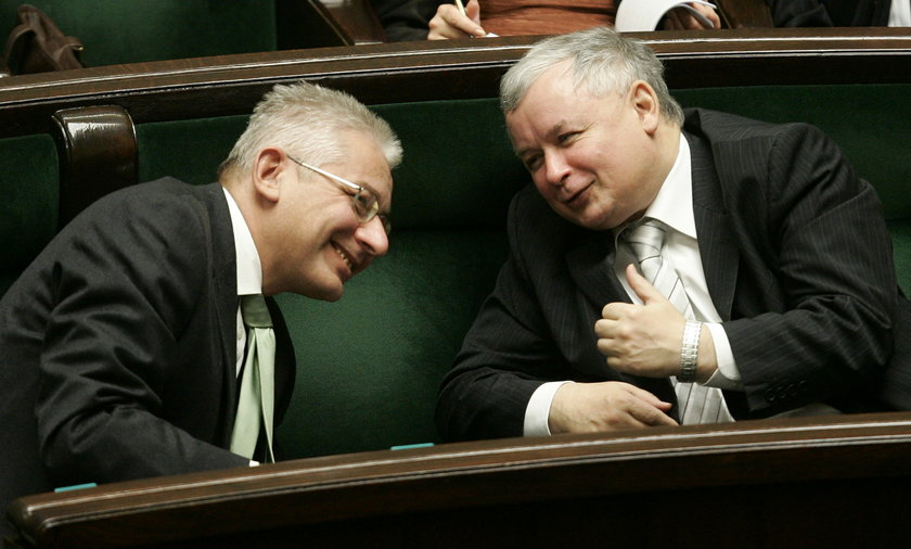 Ludwik Dorn i Jarosław Kaczyński.