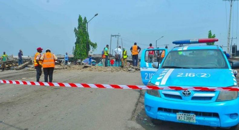Members of the FRSC at the scene of an accident/Photo used for the purpose of illustration. [pmnewsnigeria]