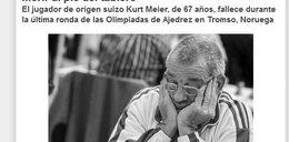 Śmierć dwóch zawodników na Olimpiadzie Szachowej!