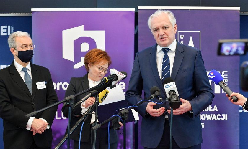 Szef Porozumienia Jarosław Gowin