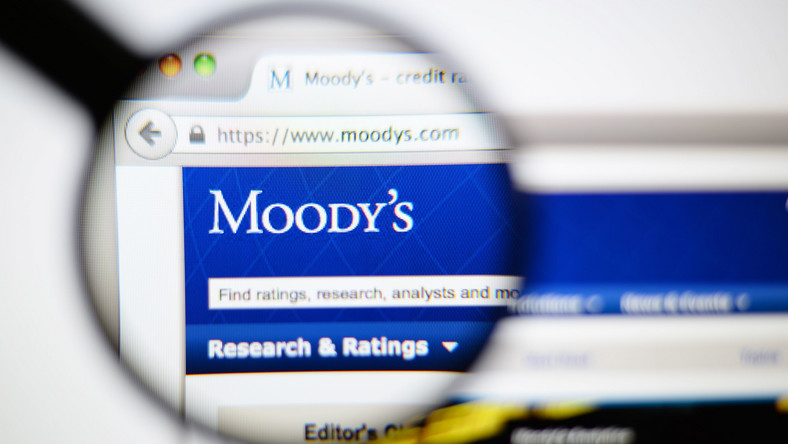 Strona internetowa agencji ratingowej Moody's