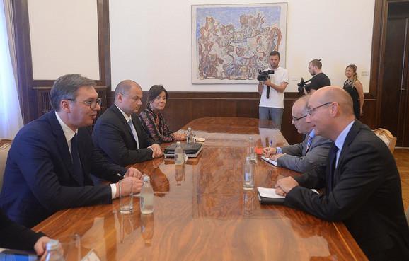 Aleksandar Vučić i Frederik Mondoloni