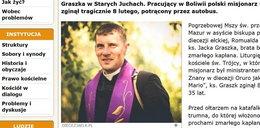 Kulisy tragicznej śmierci polskiego księdza w Boliwii
