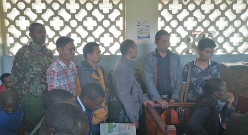 Chinese nationals in a Nakuru court