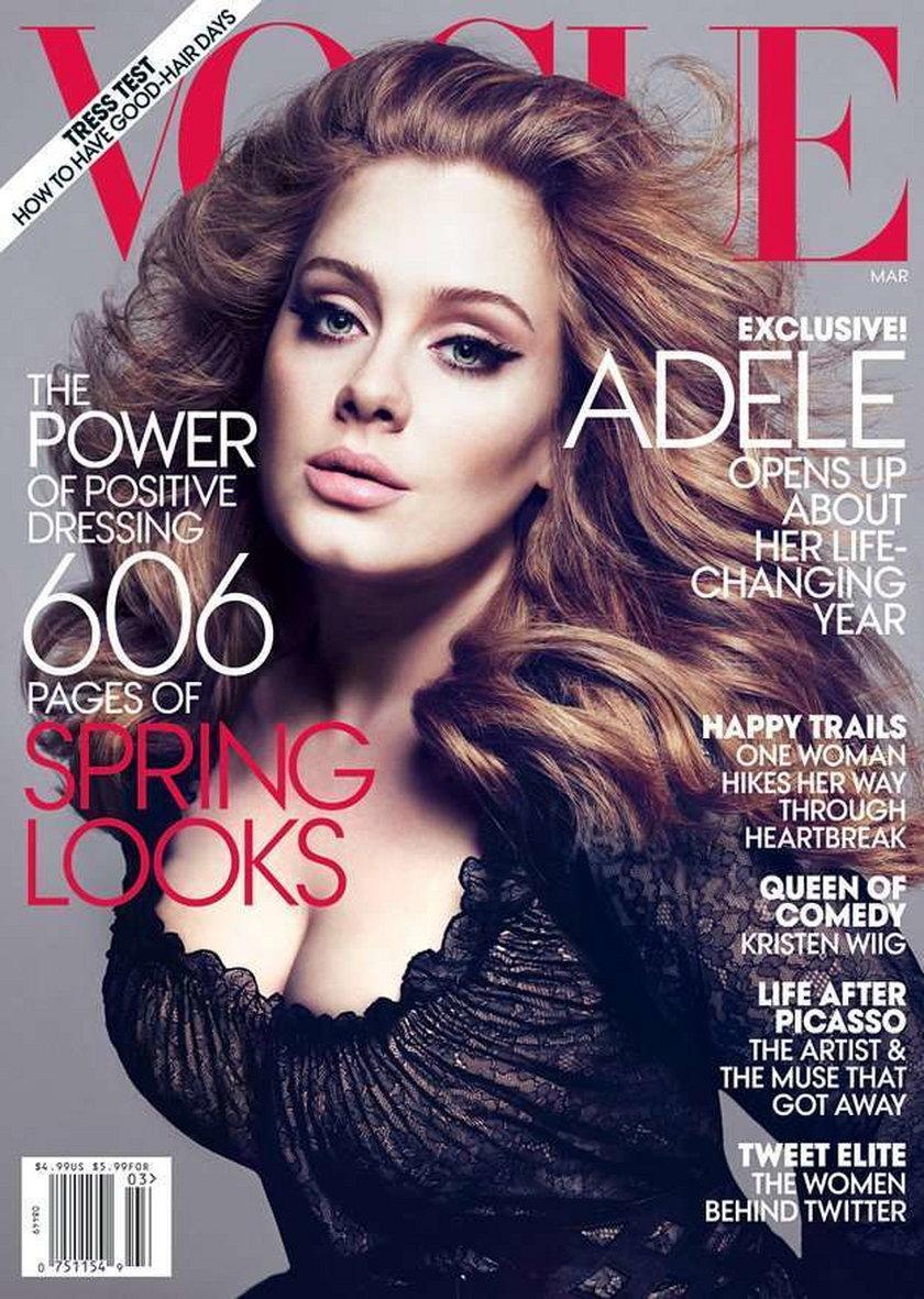 Adele amerykański Vogue 2012