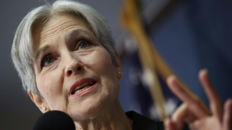 Green Party presidential nominee Jill Stein speaks during a press conference at the National Press Club in Washington, DC