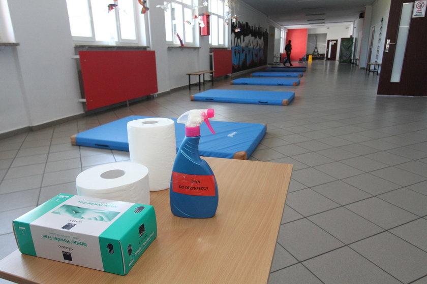 W reżimie sanitarnym odbywały się też zajęcia z wf-u.