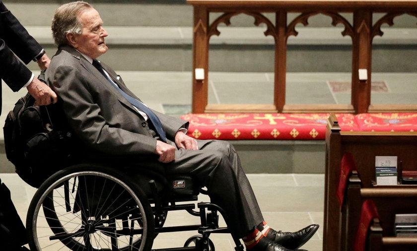 George Bush senior w ciężkim stanie. Trafił do szpitala po pogrzebie żony