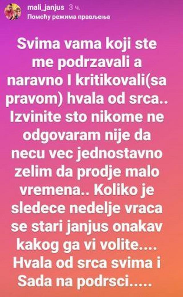 Janjuševa objava