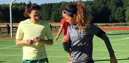Lewandowska uczy się biegać! Od kogo?