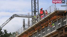 Pracownik budowy zasłabł w trakcie pracy