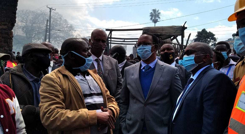 PS Kibicho visits Gikomba, issues 2 directives after fire incident