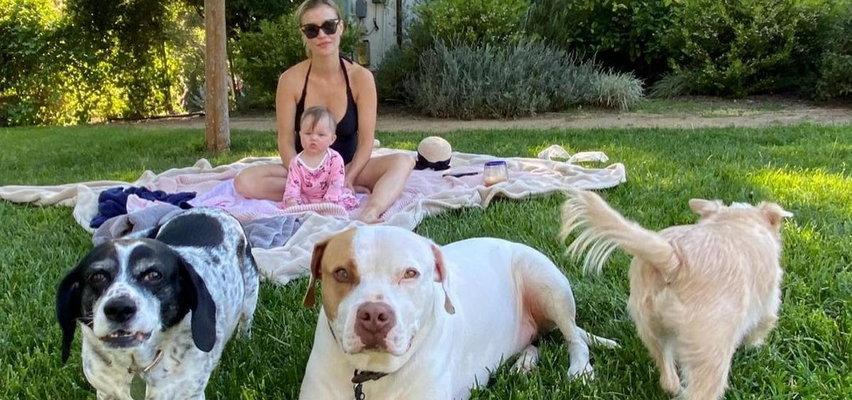Dantejskie sceny w domu Joanny Krupy. Psy są zazdrosne o jej córeczkę