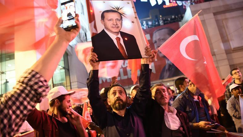 Zwolennicy prezydenta Turcji