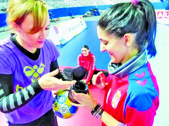 Naša novinarka sa Jelenom Erić