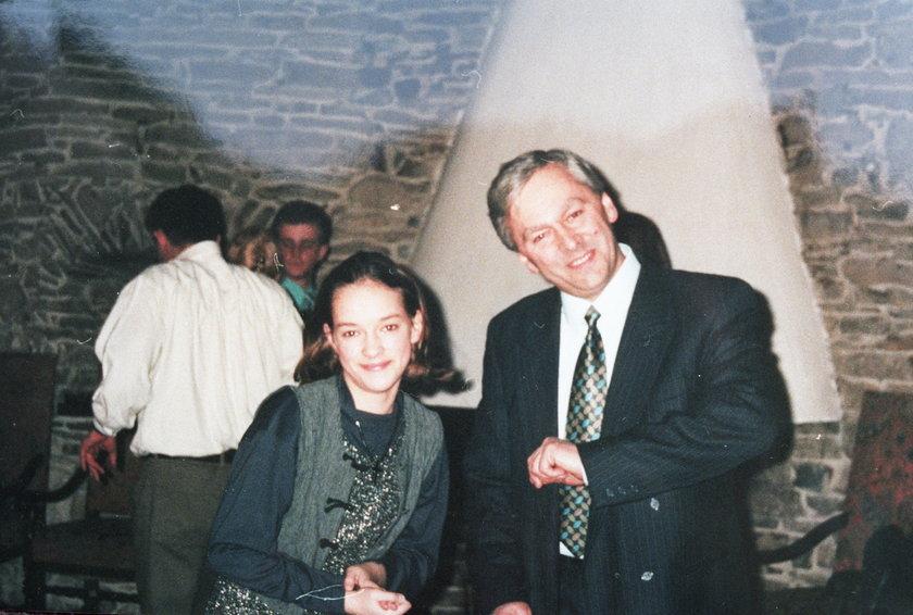 Alicja Bachleda-Curuś z ojcem