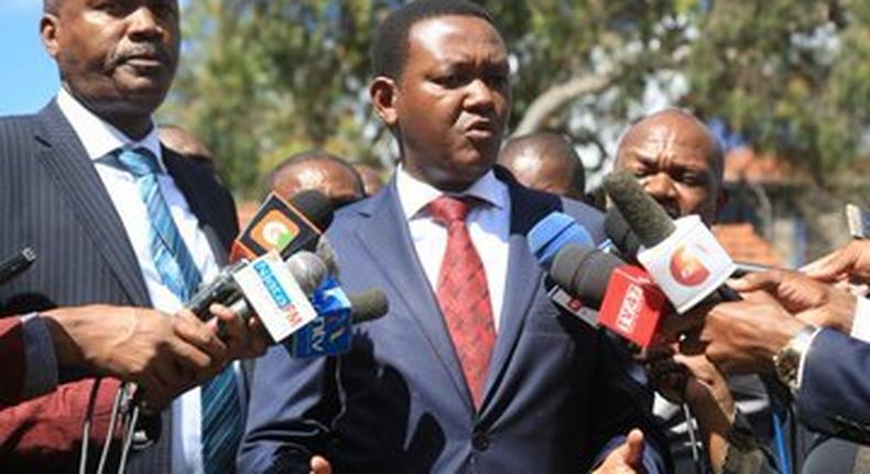 Alfred Mutua issues statement on patient who died with Corona-like symptoms