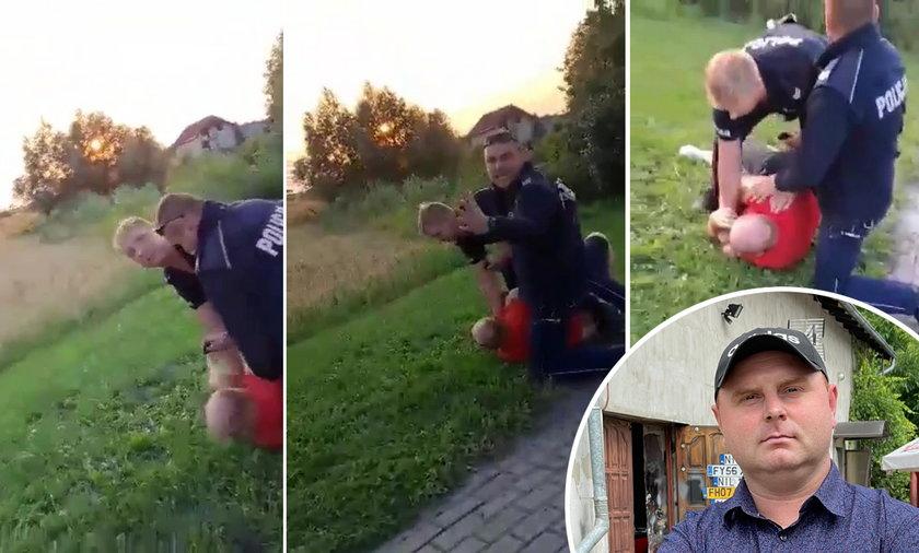 – Nikt mi takiej krzywdy w życiu nie zrobił, jak policja. Nie stawiałem oporu – żali się sołtys Adam Pokojski. Policja jest innego zdania...