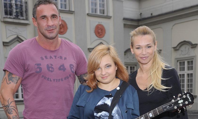 Przemysław Saleta z córką