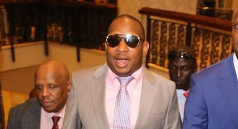 Nairobi Governor Mike Sonko arrives at the Hilton Hotel for a past event (Twitter)