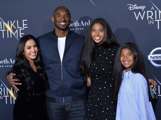 Vanesa i Kobi Brajant sa ćerkama Đijanom i Natalijom