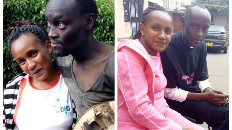 Wanja and Patrick before and after rehab