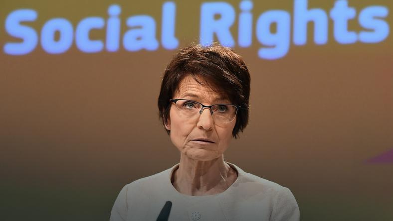 Marianne Thyssen - komisarz UE ds. zatrudnienia, spraw społecznych, umiejętności i mobilności pracowników