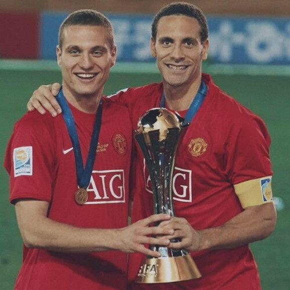 Nemanja Vidić i Rio Ferdinand